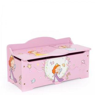 Obrázok Detská truhla na hračky Princezné