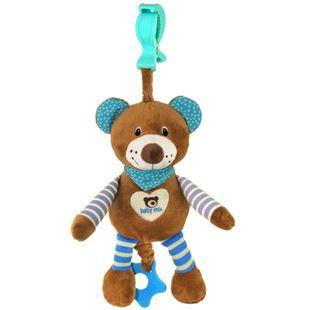 Obrázok Edukačná hrajúci plyšová hračka s klipom Baby Mix medvedík