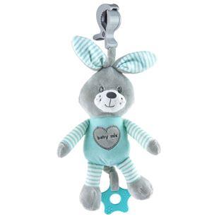 Obrázok Edukačná hrajúci plyšová hračka s klipom králik mätový