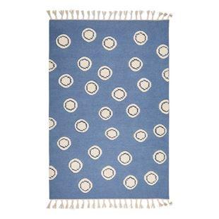 Obrázok Detský vlnený koberec Ring - modrý 120x180 cm