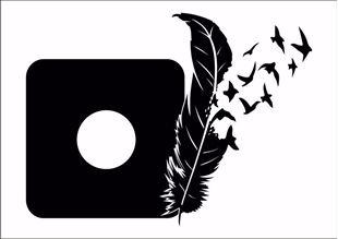 Obrázok Samolepiace velúrová ochrana vypínače Pírko, vtáčiky - mix farieb