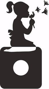 Obrázok Samolepiace velúrová ochrana vypínače Dievčatko - mix farieb
