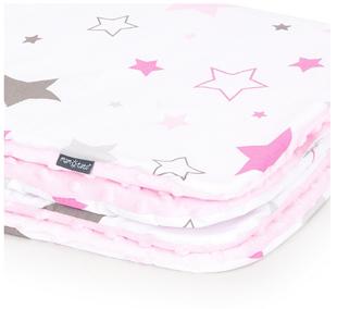 Obrázok Detská deka Hviezdy Minky 75x100 cm - rôzne farby a varianty