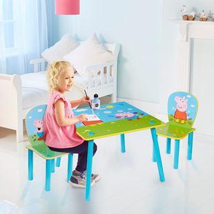 Obrázok Detský stôl s stoličkami Prasiatko Peppa