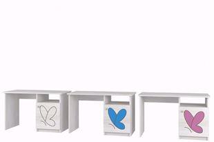Obrázok Písací stôl Motýlik BIELA