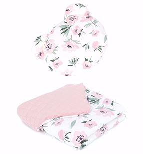 Obrázok Detská deka s vankúšom medy Kvety Velvet