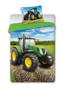 Obrázok Detské obliečky Traktor - zelený 140x200 cm
