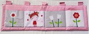 Obrázok Vreckár za posteľ 160x50 cm - Dievčatko a kvetinky