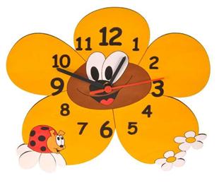 Obrázok Detské drevené hodiny Margarétka