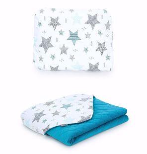 Obrázok Detská deka s vankúšom Hviezdy 2 Velvet 75x100 cm - rôzne varianty