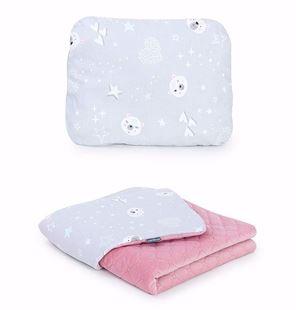 Obrázok Detská deka s vankúšom Mišánci Velvet 75x100 cm - rôzne varianty