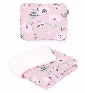 Obrázok Detská deka s vankúšom Kvety Velvet Lux 75x100 cm