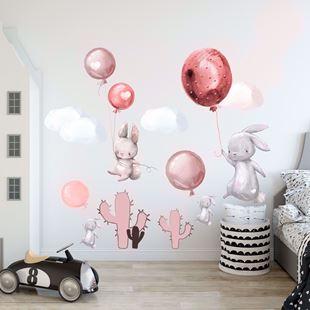 Obrázok Zajačikov a balóniky Ružová