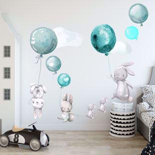Obrázok Zajačikov a balóniky Modrá