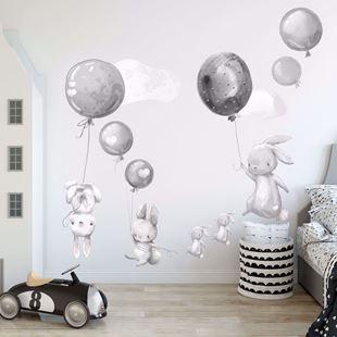 Obrázok Zajačikov a balóniky Sivá