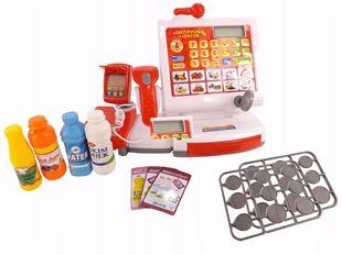 Obrázok Detská elektronická pokladňa - Červená