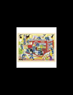 Obrázok Puzzle - hasiči pri zásahu, 48 dielov