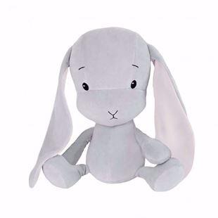 Obrázok Maznáčik Effik Bunny Šedý s ružovými uškami
