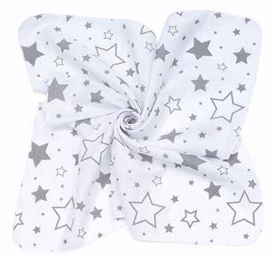 Obrázok Mušelínové plienky 35x35 (3 ks) Hviezdy Šedé