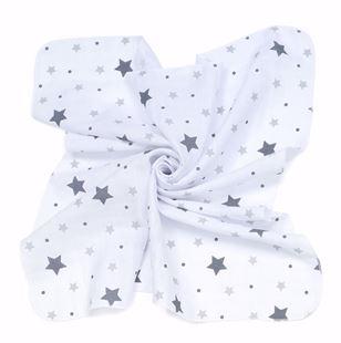 Obrázok Mušelínové plienky 35x35 (3 ks) Hviezdy Plné
