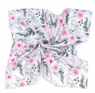 Obrázok Mušelínová plienka / osuška XXL 120x120 Kvety