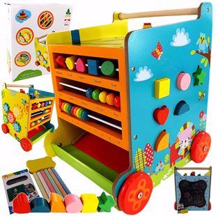 Obrázok Detské drevené chodítko kocka