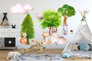 Obrázok Samolepka na stenu Lesné zvieratká