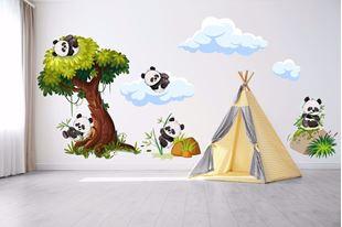 Obrázok Samolepka na stenu Pandy v prírode