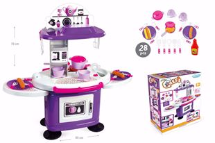 Obrázok Detská kuchynka s poličkami Fialová