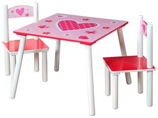 Obrázok Detský stôl s stoličkami ružový