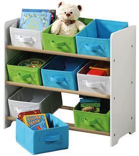 Obrázok Organizér na hračky s farebnými boxami