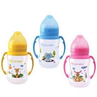Obrázok Dojčenská fľaša 250ML s držiakmi Zvieratká