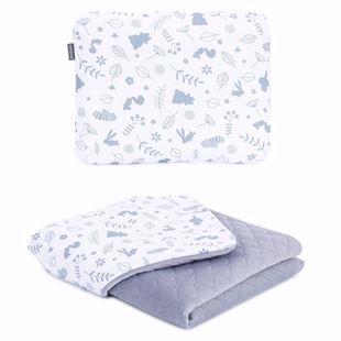 Obrázok Detská deka s vankúšom Les Velvet 75x100 cm Sivá - rôzne varianty