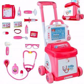 Obrázok z Detská sada na vozíku Doktor s EKG