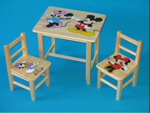 Obrázok Detský drevený stôl so stoličkami - Mickey Mouse