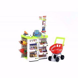 Obrázok Detský supermarket s nákupným vozíkom a váhou