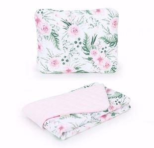 Obrázok Detská deka s vankúšom Kvetinky Velvet 75x100 cm - rôzne farby a varianty