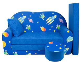 Obrázok Rozkladacia detská pohovka s Bobkom a vankúšikom Vesmír