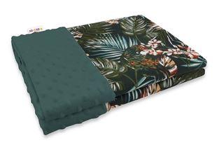 Obrázok Bavlnená deka s Minky 100x75cm, Papagáj - zelená