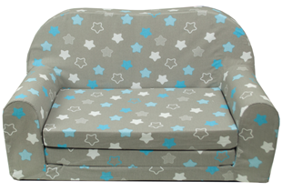Obrázok Rozkladacia detská mini pohovka Hviezdy modré