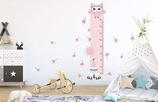 Obrázok Meter na stenu - Malá sova Ružová
