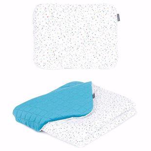 Obrázok Detská deka s vankúšom Farebné Bodky Velvet PIK 75x100 cm Modrá