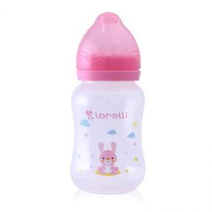Obrázok Kojenevká fľaša 250ML široké hrdlo Zvieratká Modrá