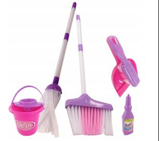 Obrázok Detský upratovacie set - fialovo-ružový