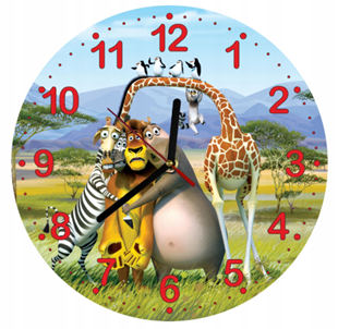 Obrázok Detské hodiny Madagaskar