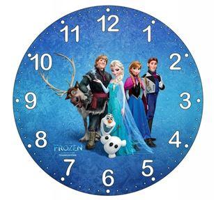 Obrázok Detské hodiny Ľadové kráľovstvo