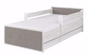 Obrázok Detská posteľ Max XL Cushioned Šedivá 180x90 cm
