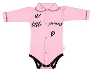 Obrázok Body dlhý rukáv s golierom, ružové Little Princess
