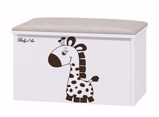 Obrázok Truhla na hračky s podsedákom Žirafka