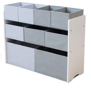 Obrázok Organizér na hračky bielo-šedý